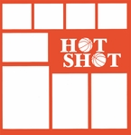 Basketball: Hot Shot 12 x 12 Overlay Laser Die Cut