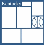 Basketball: Kentucky 12 x 12 Overlay Laser Die Cut