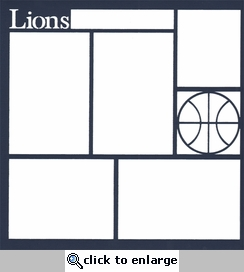 Basketball: Lions 12 x 12 Overlay Laser Die Cut