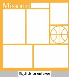 Basketball: Missouri 12 x 12 Overlay Laser Die Cut