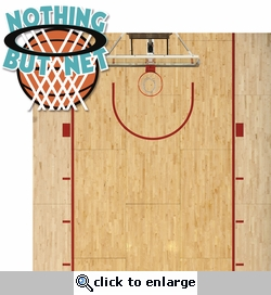 Basketball: Nothing But Net 2 Piece Laser Die Cut Kit