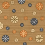 Basketball Pattern 12 x 12 Double-Sided Paper