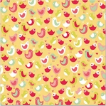 Be My Valentine: Love Bird Flocked 12 x 12 Paper
