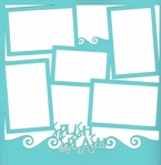 Beach and Swimming: Splish Splash 12 x 12 Overlay Laser Die Cut
