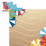 Beach Fun: Rest and Relax 2 Piece Laser Die Cut Kit