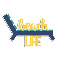 Beach Life Laser Die Cut