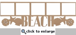 Beach Photo Frame Border Laser Die Cut