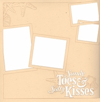 Beach: Sandy Toes And Salty Kisses 12 x 12 Overlay Laser Die Cut