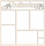 Beach: Shellseekers 12 x 12 Overlay Laser Die Cut