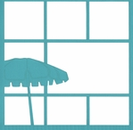 Beach:Umbrella 12 x 12 Overlay Laser Die Cut