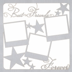 Best Friends Forever Frames 12 x 12 Overlay Laser Die Cut