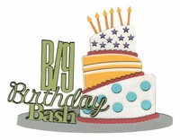 Big Birthday Bash Laser Die Cut