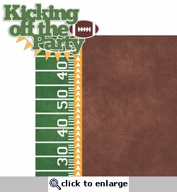 Big Game: Kicking Off The Party 2 Piece Laser Die Cut Kit