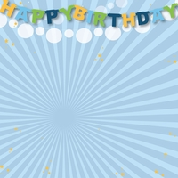 Big Wish: Blue Happy Happy Birthday 12 x 12 Paper