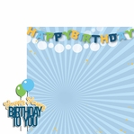 Big Wish: Blue Happy Happy Birthday 2 Piece Laser Die Cut Kit