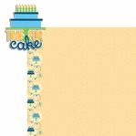 Big Wish: Blue  Time for Cake 2 Piece Laser Die Cut Kit