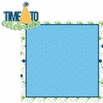 Big Wish: Blue  Time to Celebrate 2 Piece Laser Die Cut Kit