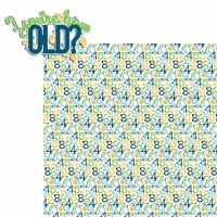 Big Wish: Blue You're how Old? 2 Piece Laser Die Cut Kit