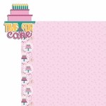 Big Wish: Pink Time for Cake 2 Piece Laser Die Cut Kit