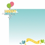 Birds: Happy Birthday 2 Piece Laser Die Cut Kit