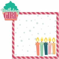 Birthday: Birthday Girl 2 Piece Laser Die Cut Kit