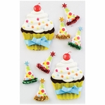 Birthday Cupcakes Medium Stickers