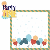 Birthday: Party Time Boy 2 Piece Laser Die Cut Kit