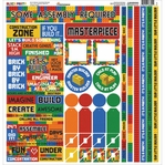 Block Party 12 x 12 Sticker Sheet