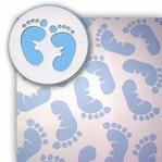 Blue Baby Feet 2 Piece Laser Die Cut Kit