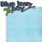 Blue Jean Boy 2 Piece Laser Die Cut Kit