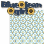 Blue Jean Girl 2 Piece Laser Die Cut Kit