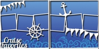 Bon Voyage: Cruise Favorites Double 12 x 12 Overlay Quick Page Laser Die Cut
