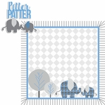 Born to be Wild: Boy Elephant 2 Piece Laser Die Cut Kit