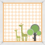 Born to be Wild: Boy Giraffe 12 x 12 Paper