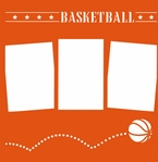 Bouncing Basketball 12 x 12 Overlay Laser Die Cut