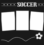 Bouncing Soccer 12 x 12 Overlay Laser Die Cut