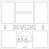 Bowling 12 x 12 Overlay Laser Die Cut