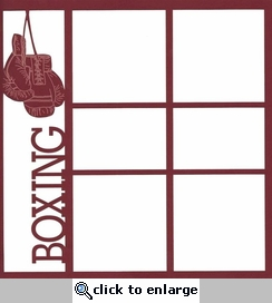 Boxing 12 x 12 Overlay Laser Die Cut