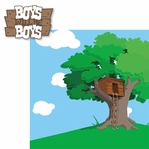 Boyz Rule: Boys will be boys 2 Piece Laser Die Cut Kit
