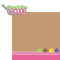 Brain Freeze:  The Scoop  2 Piece Laser Die Cut Kit