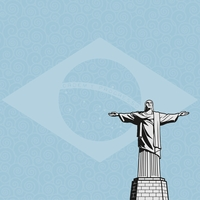 Brazil: Christ The Redeemer 12 x 12 Paper