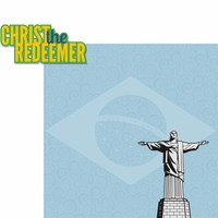Brazil: Christ The Redeemer 2 Piece Laser Die Cut Kit