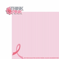 Breast Cancer: Think Pink 2 Piece Laser Die Cut Kit