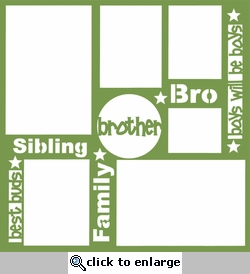 Brother 12 x 12 Overlay Laser Die Cut