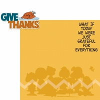 Brown Thanksgiving: Give Thanks 2 Piece Laser Die Cut Kit