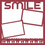 Brush Rinse Floss: Smile 12 x 12 Overlay Laser Die Cut