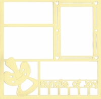 Bundle of Joy Baby 12 x 12 Overlay Laser Die Cut