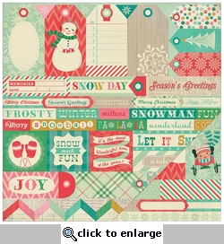 Bundled Up: Fa La La Cut-Outs - Phrases & Tags 12 x 12 Double-Sided Cardstock