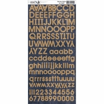 Burlap Alphabet Sticker