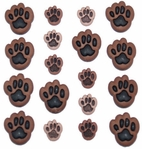 Button Fun Dog Paws Buttons